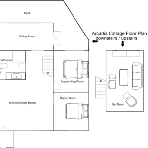 Arcadia Cottage up and down floor plan 2020 09 21 at 5.57.26 PM